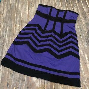 Strapless Purple Dress sz M Forever 21